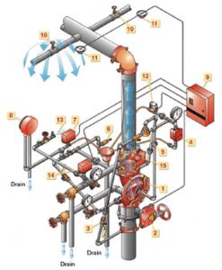 Resim 2. Ön-Tepkili ( Pre-action ) Yağmurlama Sistemi